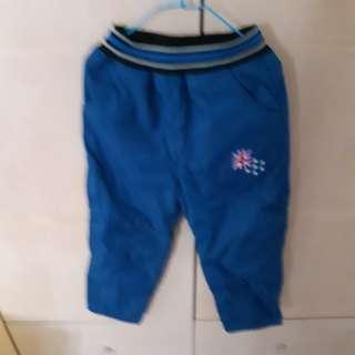 🚚 26號男童藍色鋪棉長褲