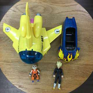 Dragon Ball Z Capsule Corp No. 991 Spaceship No. 668 3-Wheels car figures light & sound 美版龍珠飛機三輪車悟空無限比達