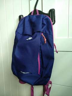 Backpack navy plum decalthon