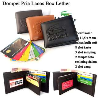 Dompet Pria Kulit Lacos Box Leather
