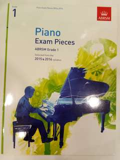 ABRSM Piano Exam Pieces 2015-2016 Grade 1 Book/Score (CLEARANCE!!)