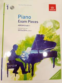 ABRSM Piano Exam Pieces 2015-2016 Grade 1 with CD Book/Score (CLEARANCE!!)