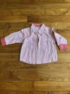 BNWT Chateau Boys Red Stripe Long Sleeve Shirt
