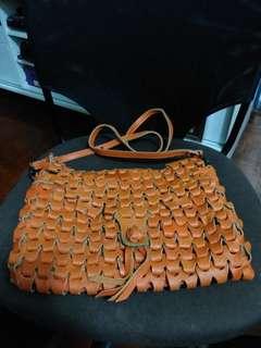 歐洲 真皮 手製 人手 手造 斜孭袋 全新 代放
