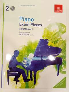 ABRSM Piano Exam Pieces 2015-2016 Grade 2 with CD Book/Score (CLEARANCE!!)