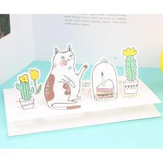 ($8)貓咪立體卡連信封