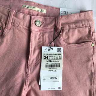 BNWT Zara Pink Skinny Jeans