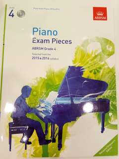 ABRSM Piano Exam Pieces 2015-2016 Grade 4 with CD Book/Score (CLEARANCE!!)