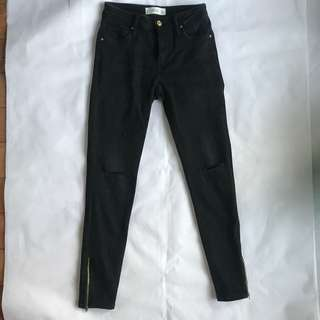 MNG Black Ripped Jeans