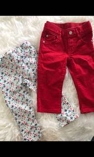 2 Pants for 12-18 months