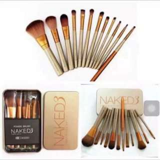 Naked3 brush set 12 pcs can