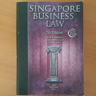Singapore Business Law textbook 7th ed