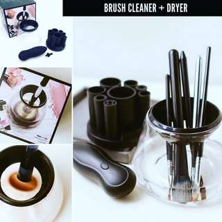 Brush cleaner and dryer