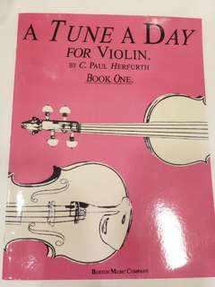 Hal Leonard- A Tune A Day for Violin Book One Book/Score (CLEARANCE!!)