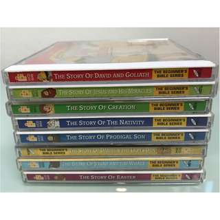 8 x VCD - 8 STORIES FROM THE BIBLE FOR CHILDREN