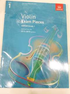 ABRSM Violin Exam Pieces 2012-2015 Grade 1 Book/Score (CLEARANCE!!)