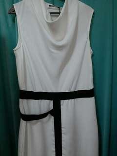 意大利白色裙長裙