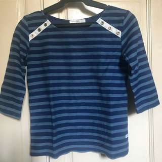 Bayo Blue Stripes Sweatshirt