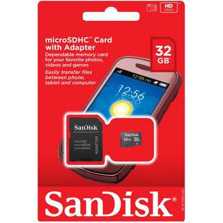 🔥𝘽𝙀𝙎𝙏 𝘿𝙀𝘼𝙇🔥SanDisk Ultra 32GB microSDHC UHS-I Card with Adapter, Black, Standard Packaging