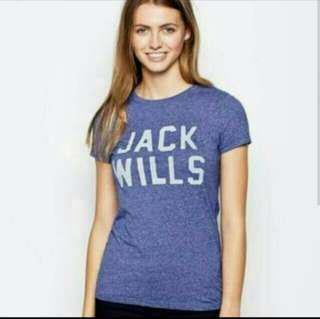Jack Wills ORCHID ECCLESTON TEE T-SHIRT 女裝紫藍色底淺紫色字短袖衫 GAP Hollister