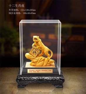 gold plated auspicious figurines - 绒纱金摆件Gold tiger