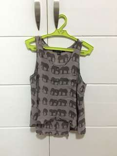 Forever21 Elephant Print Top