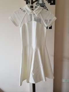 Apartment 8 Very Classy White Mesh Dress