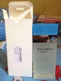 D&G Light Blue Perfume tester for women
