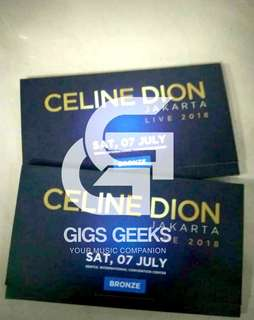 tiket Celine Dion Bronze Murah