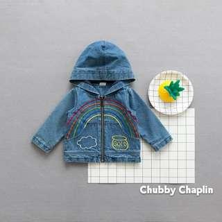 Embroidered Rainbow Jeans Jacket