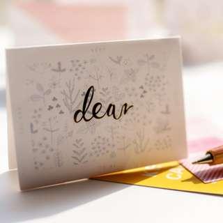 ($5)Dear card連信封