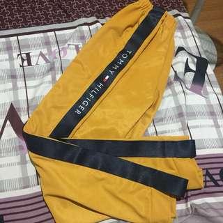 Mustard Tommy Hilfiger Track Pants