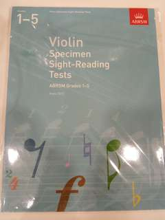 ABRSM Violin Specimen Sight-Reading Tests from 2012 Grades 1-5 Book/Score (CLEARANCE!!)