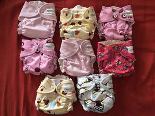 GroVia AIO reusable cloth diapers (newborn-6months)