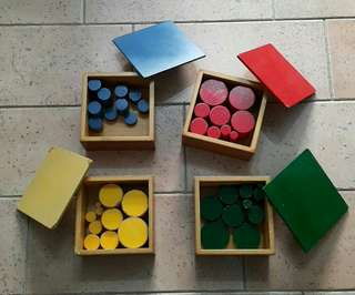 Montessori Knob-less Cylinders - 4 boxes