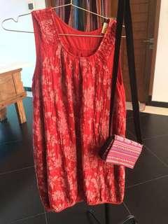 Red Baloon Dress ( Dress Balon Merah)