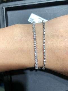 鑽石手鏈 左邊pt900 共2.00ct 只售11800 右邊14k 共1.00ct 只售6000