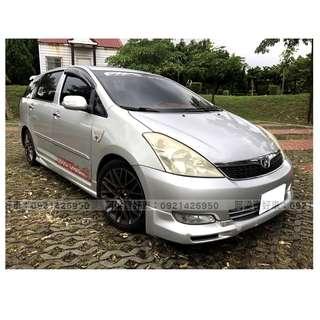 2004年-豐田-WISH 買車不是夢想.輕鬆低月付.歡迎加LINE.電(店)洽
