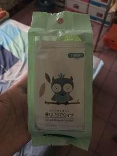 🚚 Yubiso 貓頭鷹濕紙巾10入