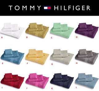 📣📣🔥快閃!!美國進口🇺🇸Tommy Hilfiger多色純棉大浴巾【一條,尺寸:27寸 x 52寸】