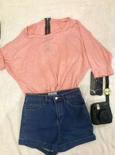 Peach loose pullover