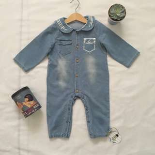 Baby Jeans Romper