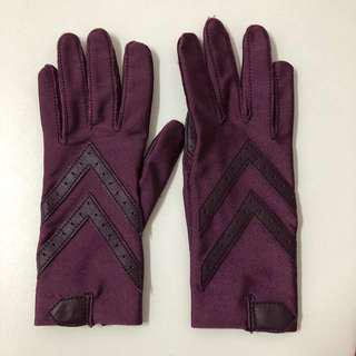Totes Isotoner Ladies Gloves (Stretchable) Dark Plum