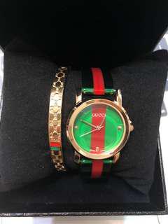 Gucci手錶 手環套組