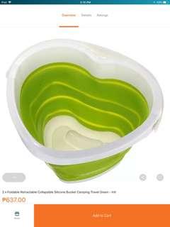 Portable bucket adjustable