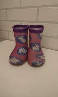 🚚 《二手》兔兔雨鞋。紫色。14cm