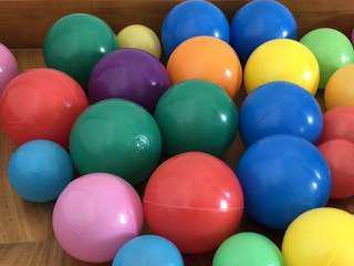 Colorful Intex Plastic Balls Ball Pit 50 Pcs 8cm