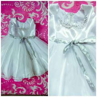 PRELOVED WHITE DRESS FOR BAPTISM