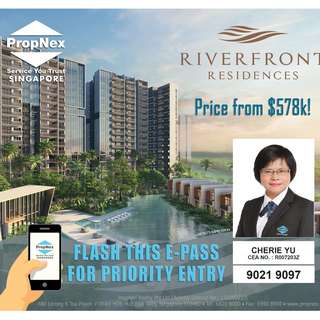 VERY LOW entry price from $578K ! Riverfront Residences.