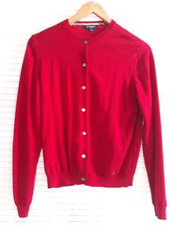 Authentic Burberry Red Cardigan